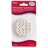Allary Retractable Tape Measure Polka Dot White