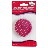 Allary Retractable Tape Measure Polka Dot Pink