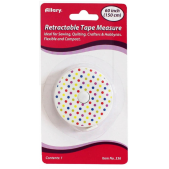Allary Retractable Tape Measure Polka Dot White