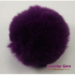 Faux Fur Pompom Currant