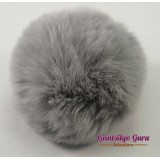 Faux Fur Pompom Flint