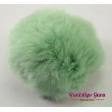 Faux Fur Pompom Mint