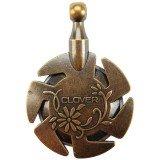 Clover Yarn Cutter Pendant (Antique Gold)