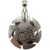 Clover Yarn Cutter Pendant (Antique Silver)