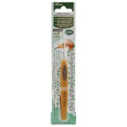 Clover Soft Touch Steel Crochet Hook 1.75MM