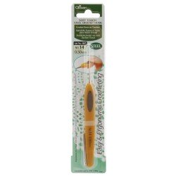 Clover Soft Touch Steel Crochet Hook 0.50MM