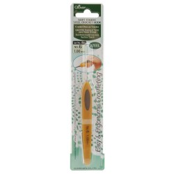 Clover Soft Touch Steel Crochet Hook 1.00MM