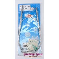 Steel Circular Knitting Needles 6 / 5mm (60 cm)
