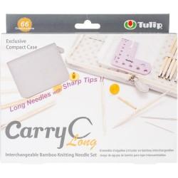 Tulip Carry C Interchangeable Bamboo Knitting Needle Set Long
