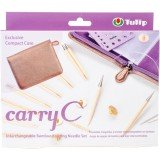 Tulip Carry C Interchangeable Bamboo Knitting Needle Set Short