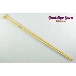 Bamboo Straight Knitting Needles 5.0 (34 cm)