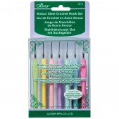 Clover Amour Steel Crochet Hook Set (7 Pcs.)