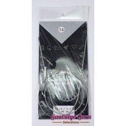 Steel Circular Knitting Needles 14 / 2mm (80 cm)