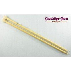 Bamboo Straight Knitting Needles 9.0 (34 cm)