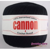 Cannon Mercerized Cotton 8 Thread Ball Black