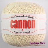 Cannon Mercerized Cotton 8 Thread Ball Natural