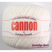 Cannon Mercerized Cotton 8 Thread Ball White