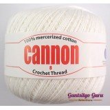 Cannon Mercerized Cotton 8 Thread Ball White