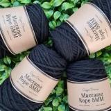Dapper Dreamer Macrame Rope 5MM Set of 4 Black