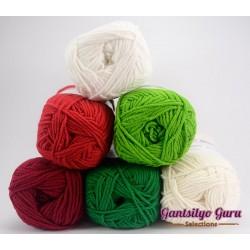 Gantsilyo Guru Milk Cotton Light Mini Color Palette Christmas