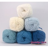 Gantsilyo Guru Milk Cotton Light Mini Color Palette Blue Wave