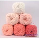 Gantsilyo Guru Milk Cotton Light Mini Color Palette Flamingo