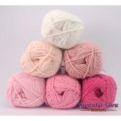 Gantsilyo Guru Milk Cotton Light Mini Color Palette Rose Bowl