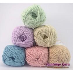 Gantsilyo Guru Milk Cotton Light Mini Color Palette Shabby Chic
