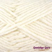 Gantsilyo Guru Milk Cotton Medium White