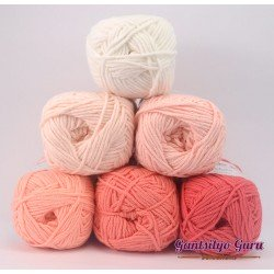 Gantsilyo Guru Milk Cotton Light Mini Color Palette Flamingo