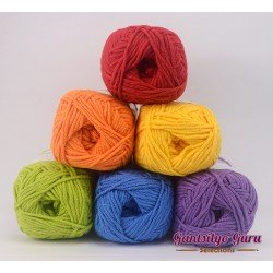 Gantsilyo Guru Milk Cotton Light Mini Color Palette Rainbow