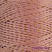 Nylon Thread 1.5MM Pale Rose Gold Metallic