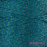 Nylon Thread 1.5MM Teal Gold Metallic