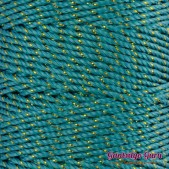Nylon Thread 1.5MM Jade Gold Metallic