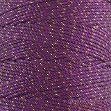 Nylon Thread 1.5MM Purple Gold Metallic
