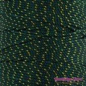 Nylon Thread 1.5MM Dark Green Gold Metallic