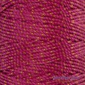 Nylon Thread 1.5MM Fuchsia Gold Metallic