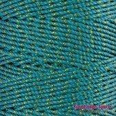 Nylon Thread 1.5MM Jade Gold Metallic