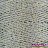 Nylon Thread 1.5MM Light Grey Gold Metallic