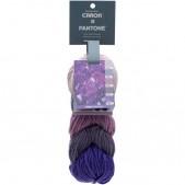Caron x Pantone Ultra Violet Minerals