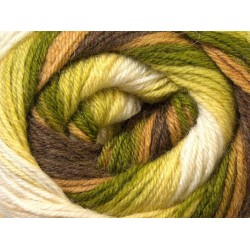 Ice Merino Gold Batik Green Shades Brown Shades