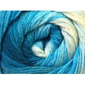 Ice Merino Gold Batik Blue Shades