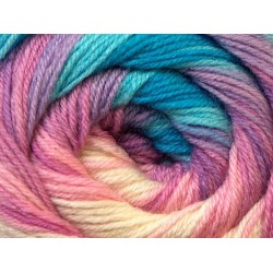 Ice Merino Gold Batik White Pink Blue