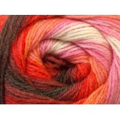 Ice Merino Gold Batik White Red Pink Brown