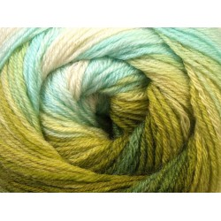 Ice Merino Gold Batik Turquoise Green Shades