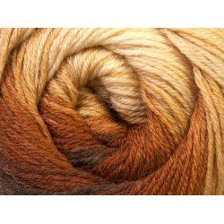 Ice Merino Gold Batik Brown Shades