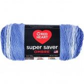 Red Heart Super Saver Ombre Baja Blue