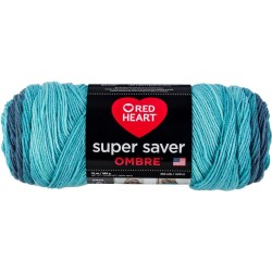 Red Heart Super Saver Ombre Blue-Tiful