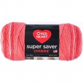 Red Heart Super Saver Ombre Sea Coral