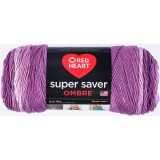 Red Heart Super Saver Ombre Purple